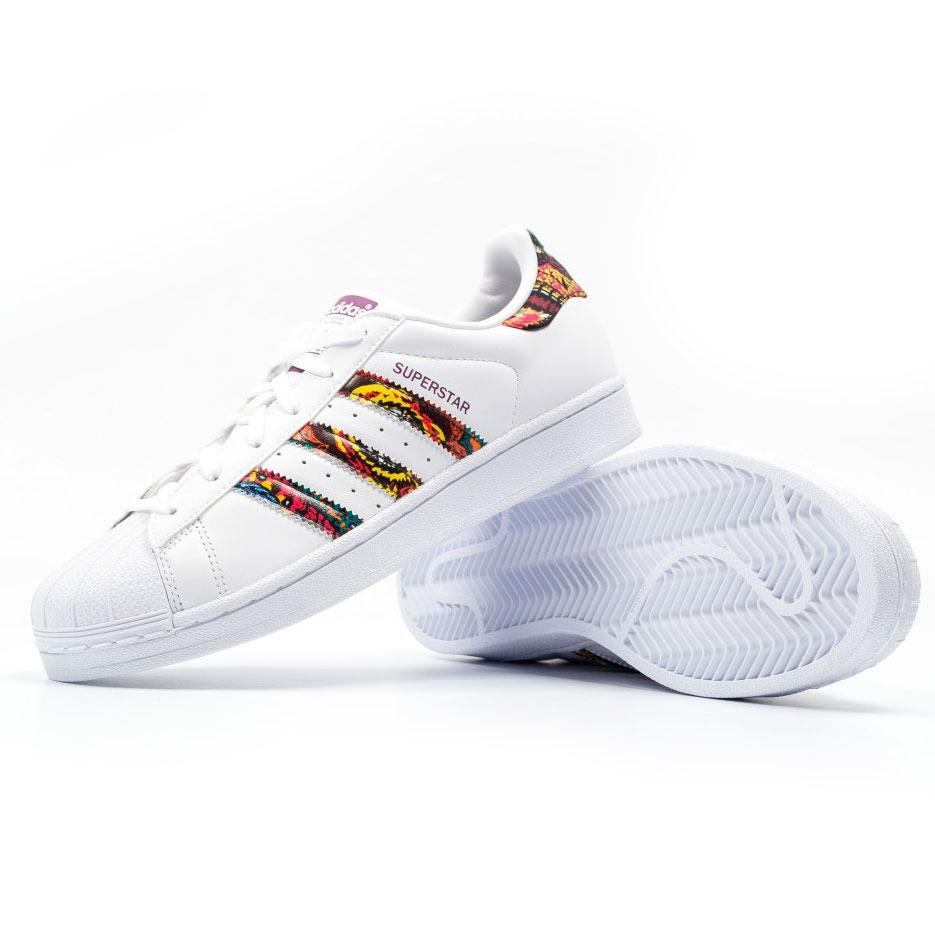dd2d0073739 tênis adidas superstar w farm crochita white original. Carregando zoom.