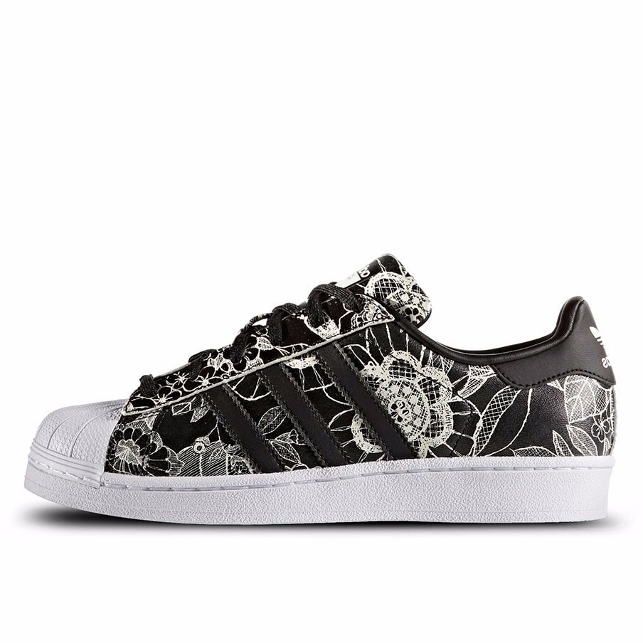 43f98e97f9 tênis adidas superstar w farm floral black. Carregando zoom.