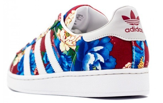 timeless design bb8d6 39ee4 ... denmark tênis adidas superstar w farm floral chita original 22373 1d99e