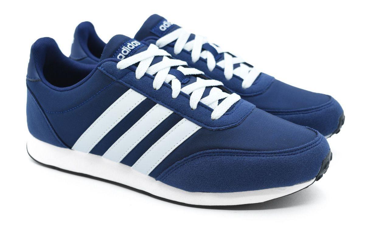 3447b635230 tênis adidas v racer 2.0 azul e branco. Carregando zoom.