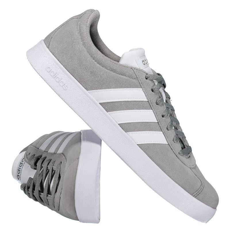 Tênis adidas Vl Court 2.0 Cinza E Branco - R  209 a150a2a56ce34