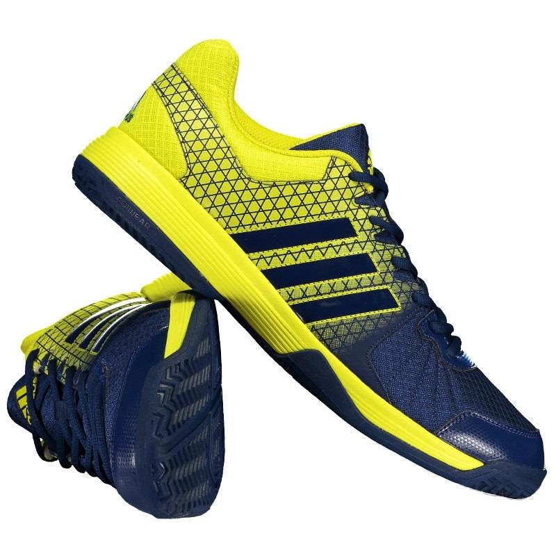 882443c81639f tênis adidas vôlei ligra 4 azul e amarelo. Carregando zoom.