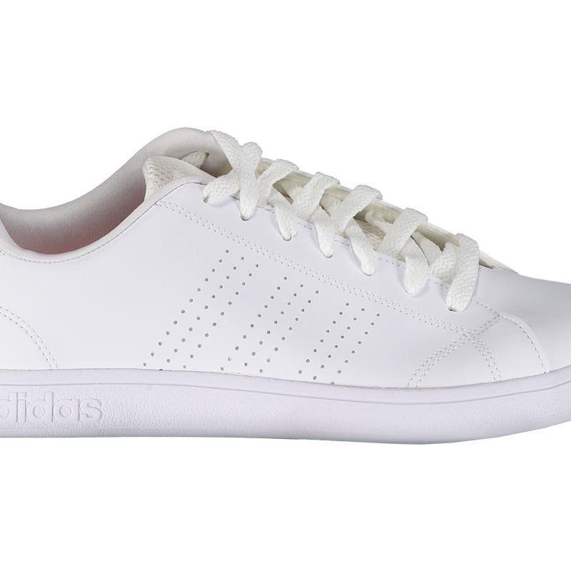 b26b5a312db tênis adidas vs advantage clean feminino branco e laranja. Carregando zoom.