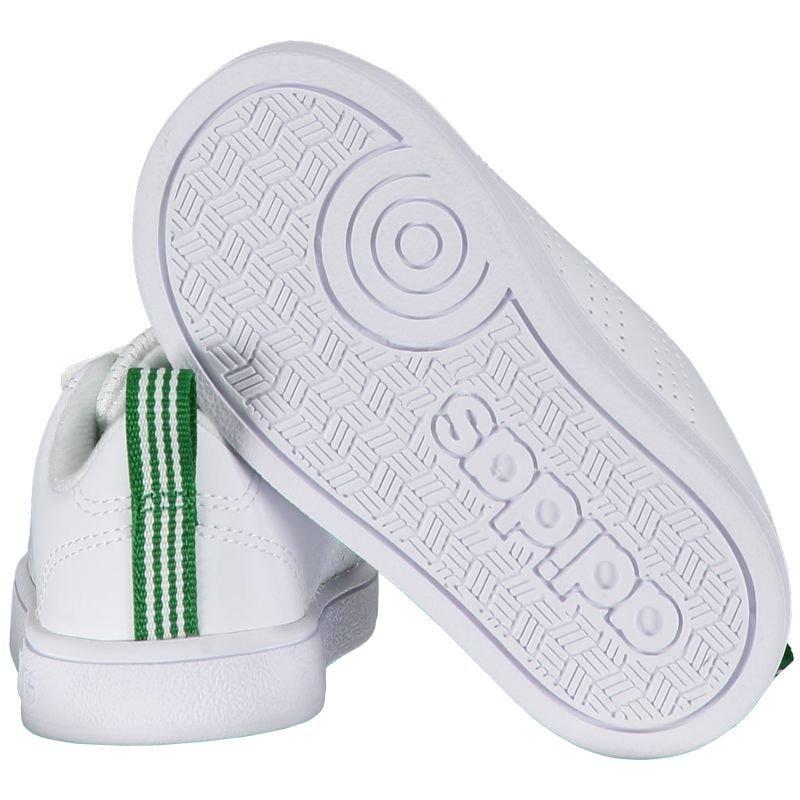 ff333948fb tênis adidas vs advantage clean infantil branco e verde. Carregando zoom.