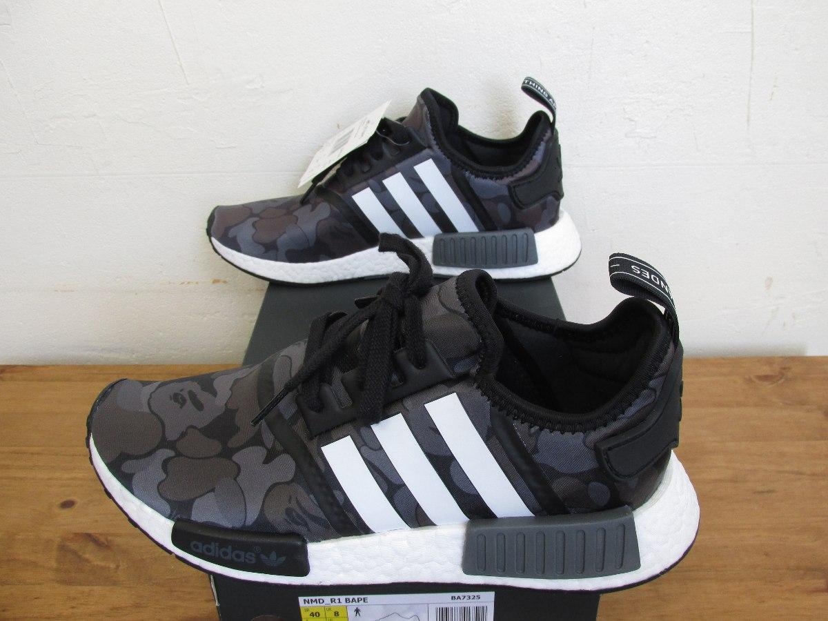 tênis adidas x bape nmd r1 black camo camuflado original. Carregando zoom. a6045fb2873