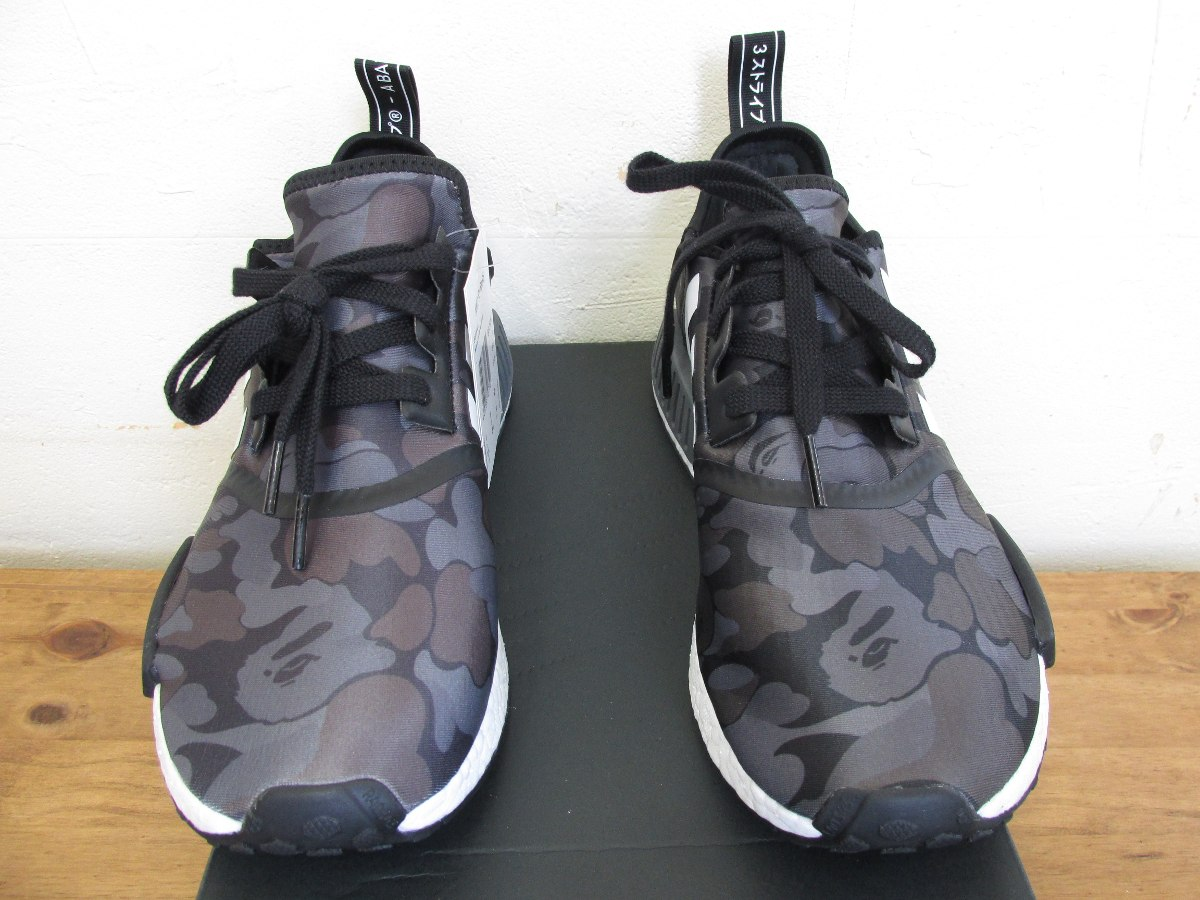 543987f6692 tênis adidas x bape nmd r1 black camo camuflado original. Carregando zoom.