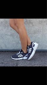 c5d3cabfd56 Adidas Zx Flux Preto E Dourado Feminino - Calçados