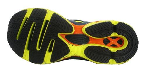 tênis adulto masculino adrun - marinho/amarelo 07102m