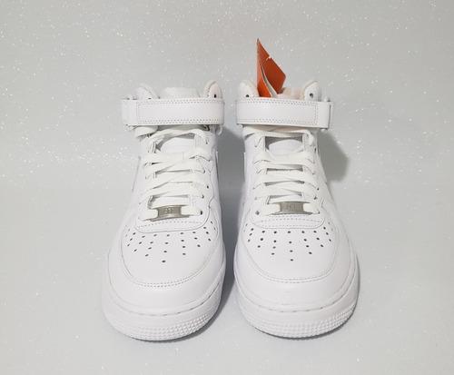 tênis air force 1 mid 07 branco couro original