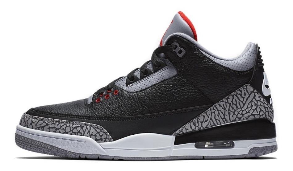 best sell promo code price reduced Tênis Air Jordan 3 Retro Og Black Cement - Nike Jordan Bred