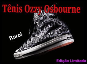 3a0dc95047e Tênis All Star Chuck Taylor Edição Limitada Ozzy Osbourne!