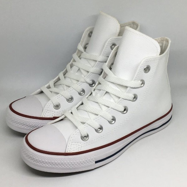 734216ebe07 Tênis All Star Converse Chuck Taylor Mid Branco Couro - R  219