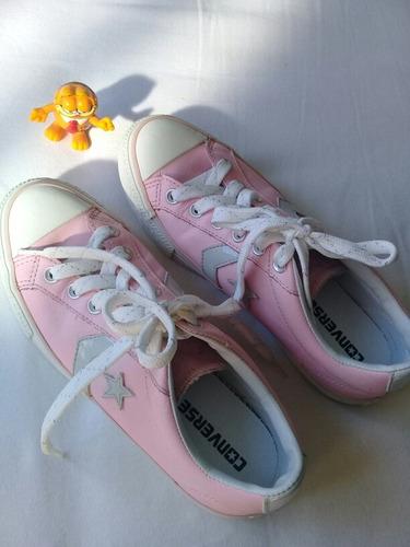 tênis all star rosa original de couro semi novo/converse
