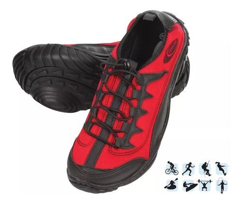tênis anfibius - cardume / cor vermelho - promoção