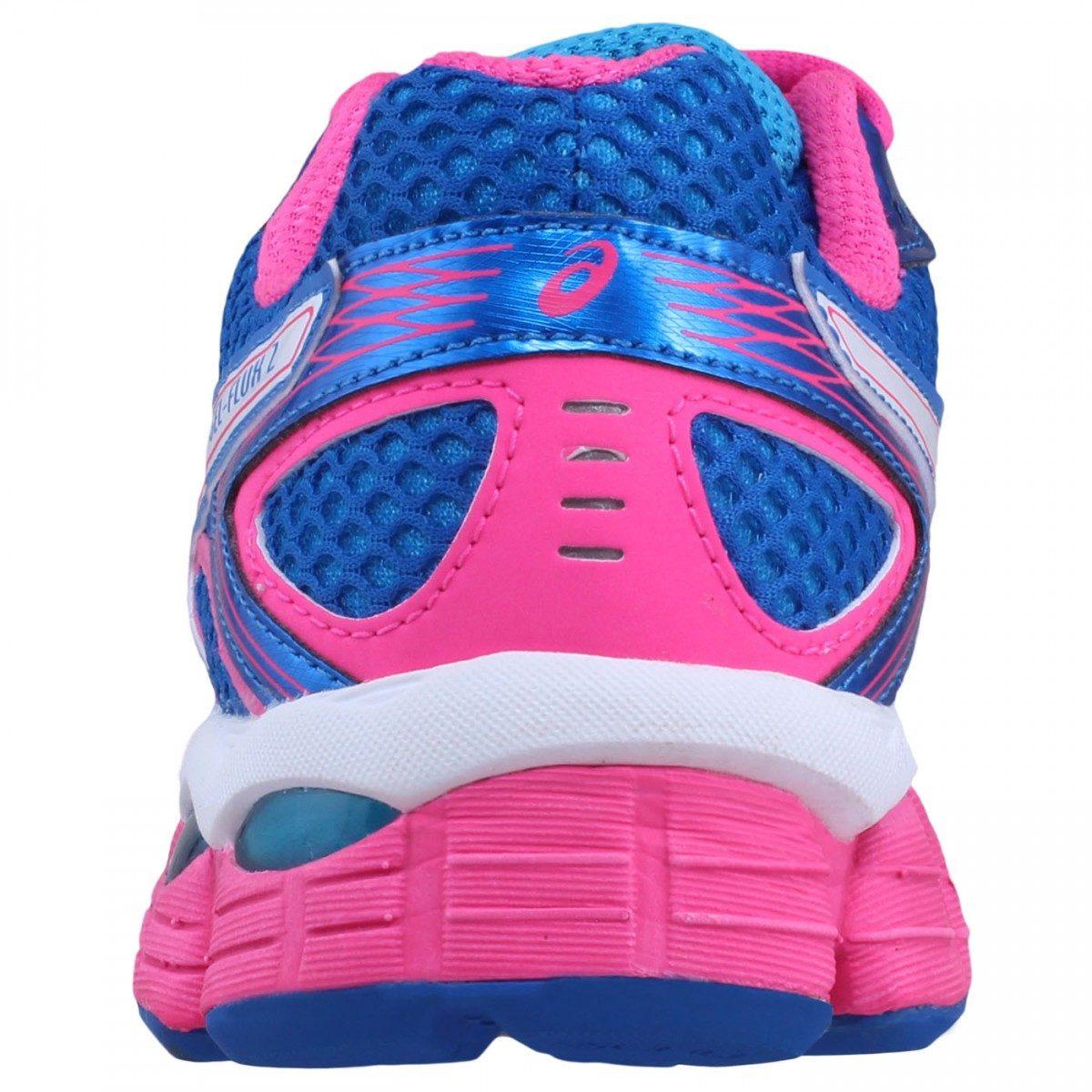 tenis asics feminino rosa colorido