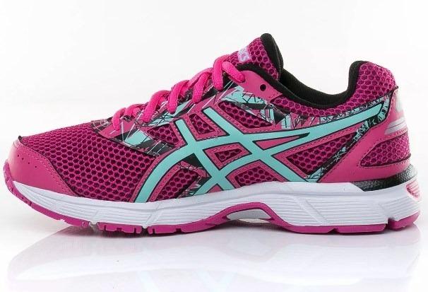 61e877fe6a5 tênis asics original gel excite 4 a feminino rosa azul pto · tênis asics  feminino