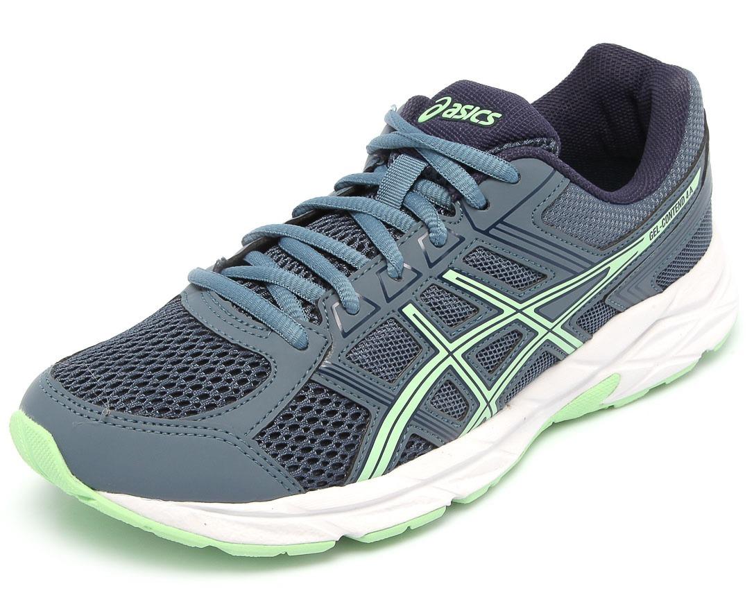 cc42c144d9 tênis asics feminino gel contend 4 a azul corrida/ caminhada. Carregando  zoom.