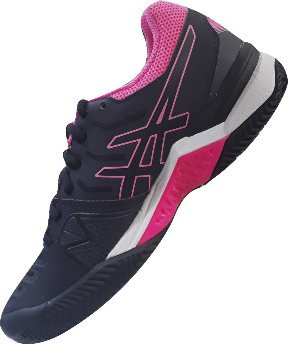 3cb5e8b7ab3 tênis asics gel challenger 11 clay feminino - preto e rosa. Carregando zoom.