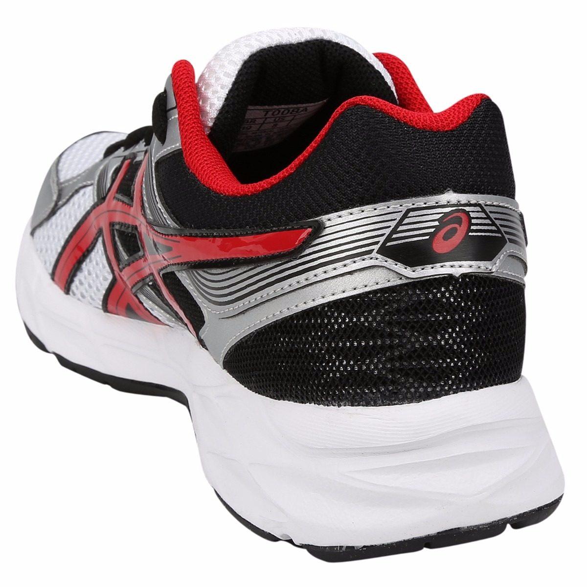 ... tênis asics gel contend 3 a masculino branco vermelho . Carregando zoom.  baf9b71cab0ad2 ... 71715df5df76f