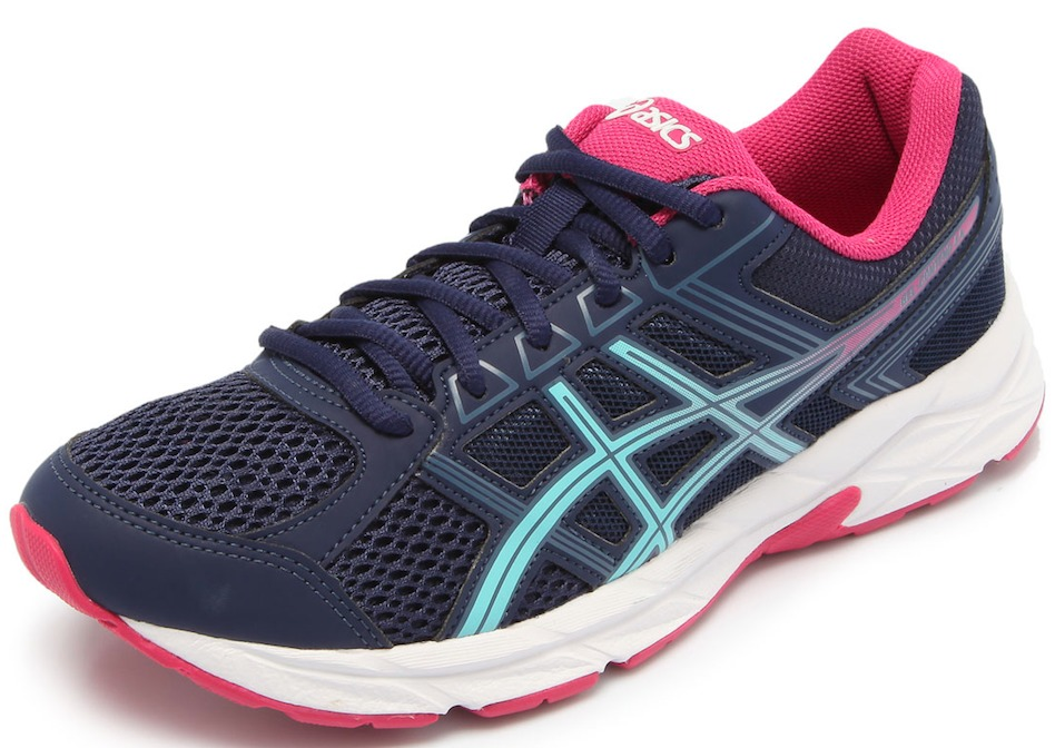 ... b54858e3993 tênis asics gel contend 4 a feminino azul corrida  caminhada. Carregando zoom. ae279e51fb73c