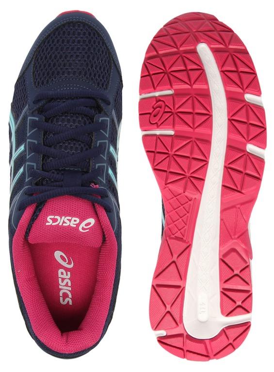92c5f9a09b3 Tênis Asics Gel Contend 4 A Feminino Azul E Rosa - R  209