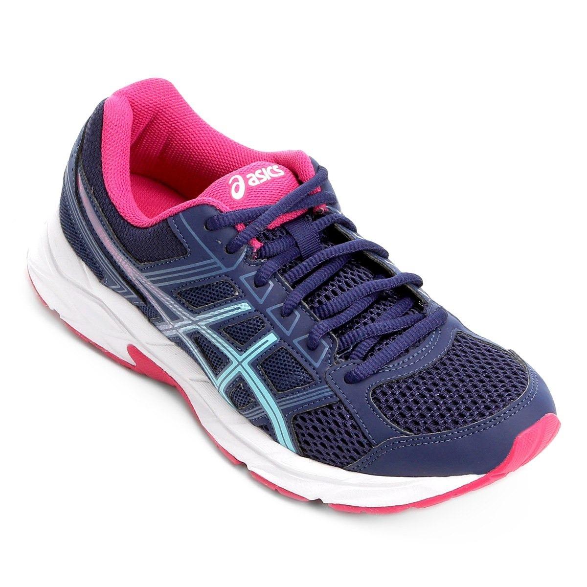 tênis asics gel contend 4 a feminino - azul e rosa-original. Carregando zoom . fd21fd5b77d70