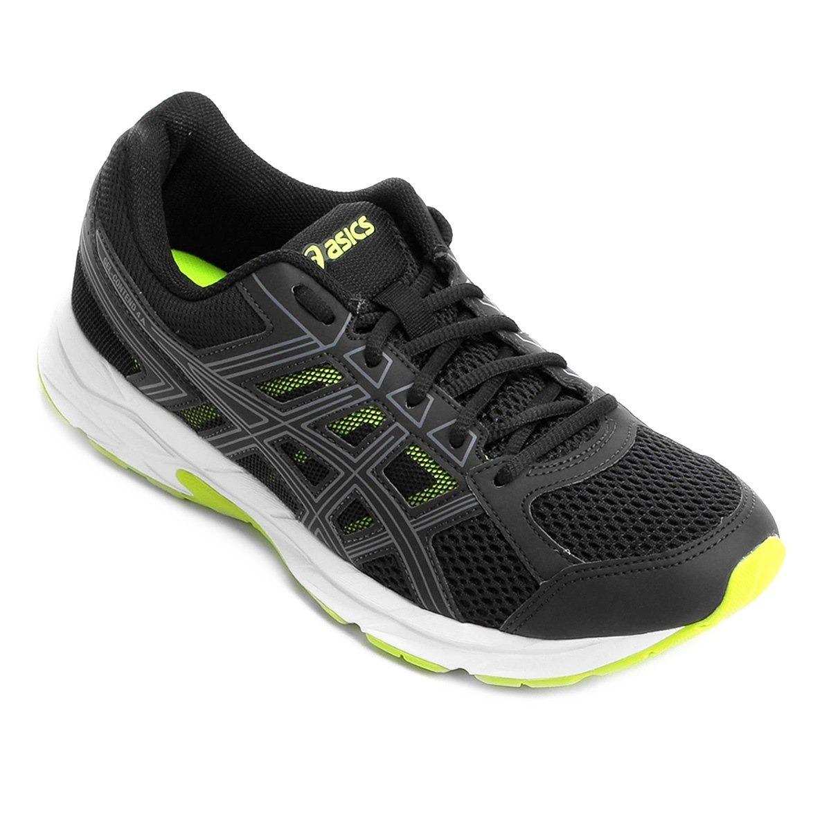 tênis asics gel contend 4 a - preto e verde - promoção. Carregando zoom. 8e5e91b75b6fe