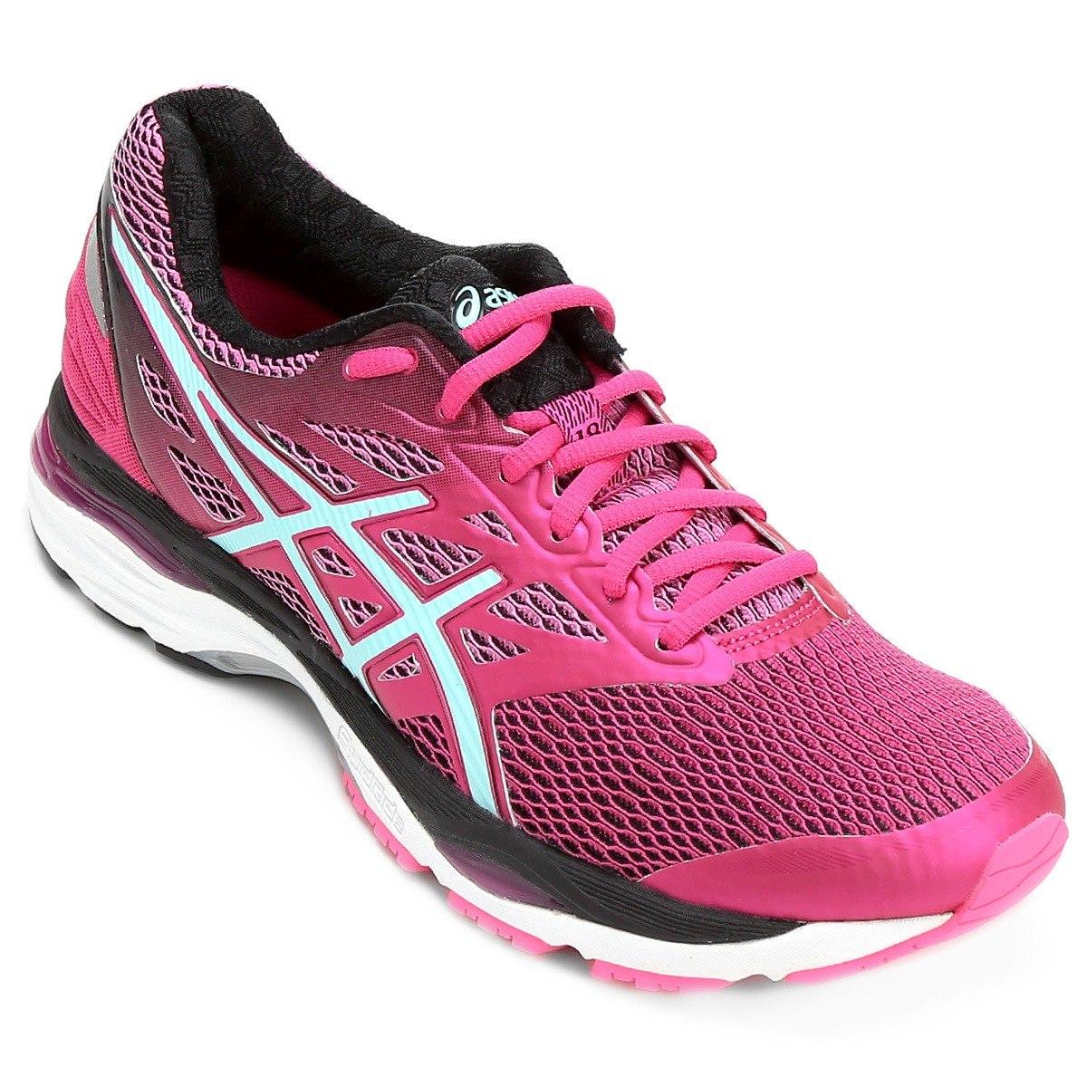 d642827d33 tênis asics gel cumulus 18 feminino rosa corrida original+nf. Carregando  zoom.
