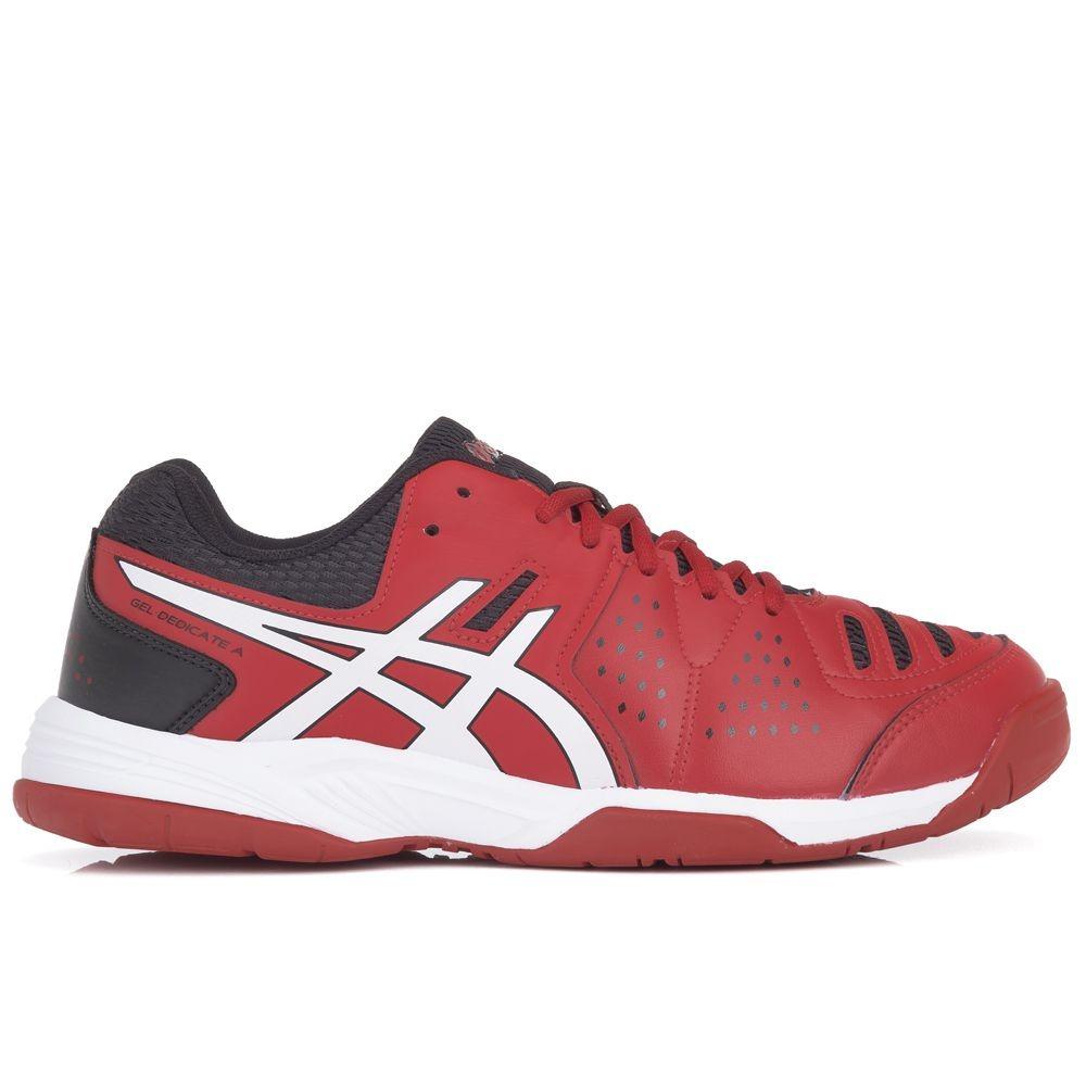 c9124c01a47 tênis asics gel dedicate 4 a vermelho preto e branco. Carregando zoom.