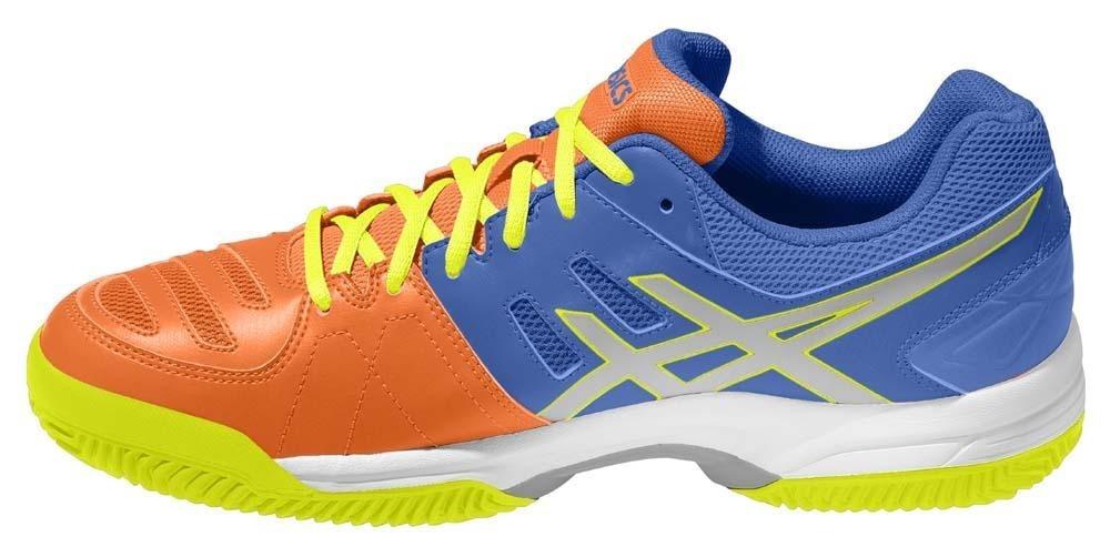6902bf19a9ea8 tênis asics gel dedicate 5 clay azul e amarelo. Carregando zoom.