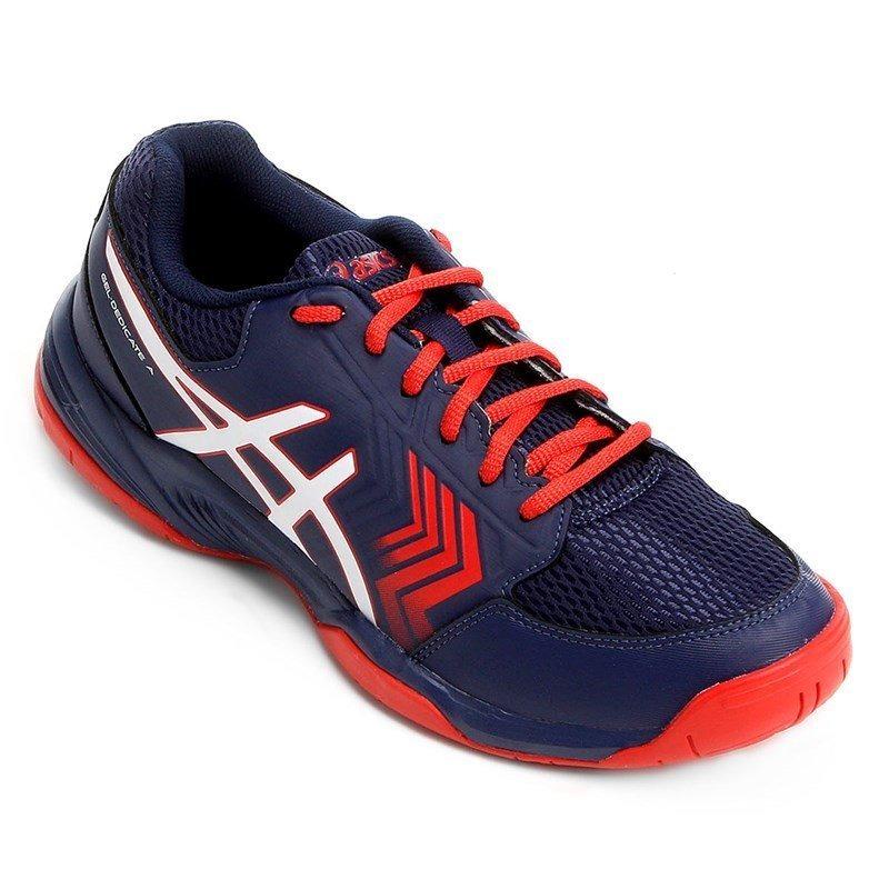 tênis asics gel-dedicate 5a dark - azul marinho e vermelho. Carregando zoom. 90261004dbfa2
