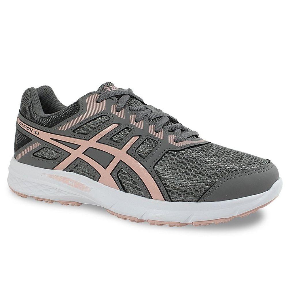 6287eebf59 tênis asics gel excite 5 a feminino - cinza rosa. Carregando zoom.