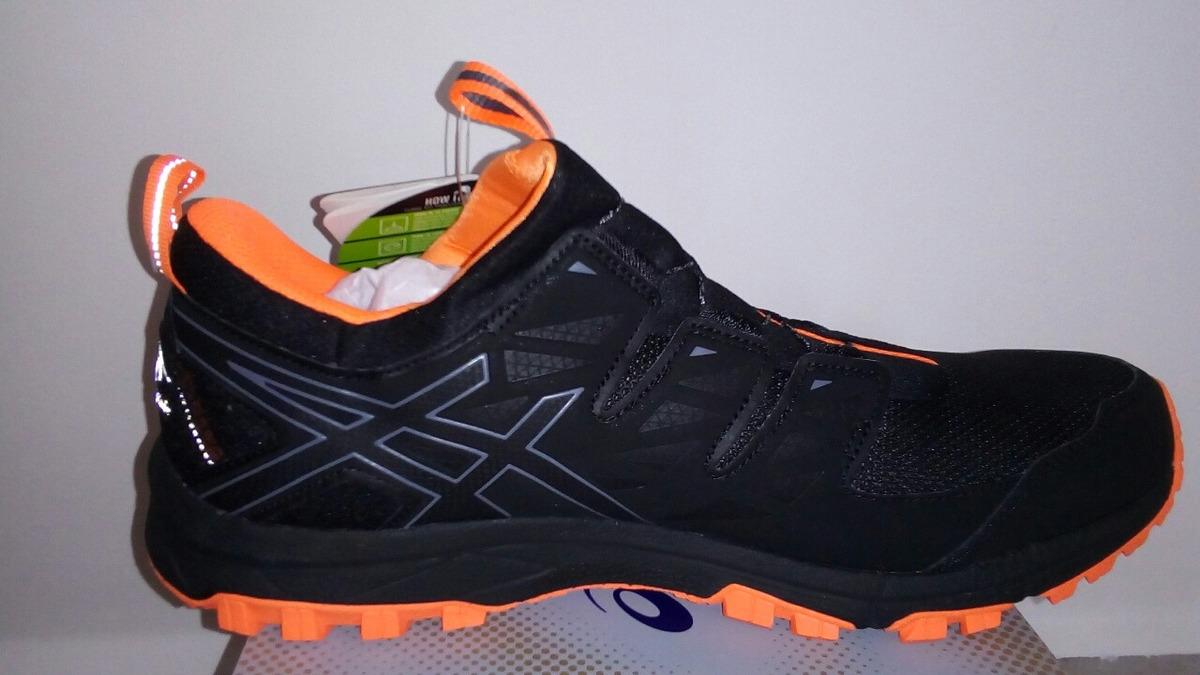 54f1d282343 tênis asics gel fujirado -t7f2n9097 black carbon hot orange. Carregando  zoom.