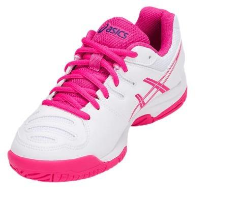 9ef0e40100 Tênis Asics Gel Game 5 Gs Feminino Infantil Branco rosa - R  319
