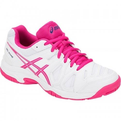 f67b1431ae Tênis Asics Gel Game 5 Gs Feminino Infantil Branco rosa - R  289