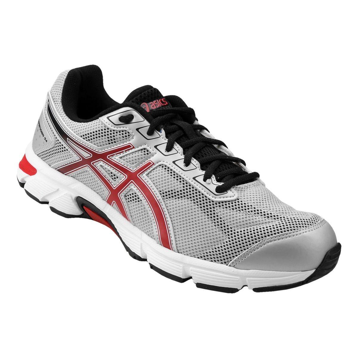3804fac5fde tênis asics gel impression 9 cinza e vermelho. Carregando zoom.
