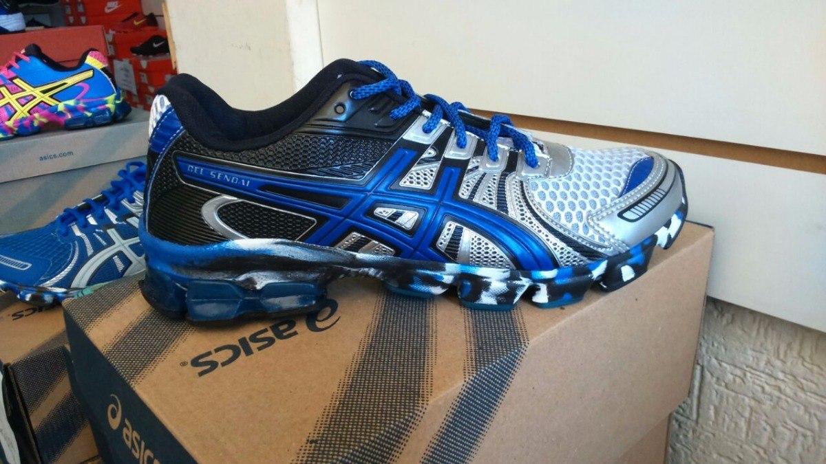 4abc19e59a5 tênis asics gel - modelo  azul com cinza. Carregando zoom.