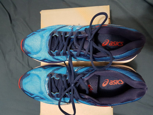 tênis asics gel nimbus 19 masculino - azul e branco 43 top
