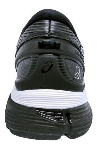 tênis asics gel nimbus 21 masculino - preto e branco
