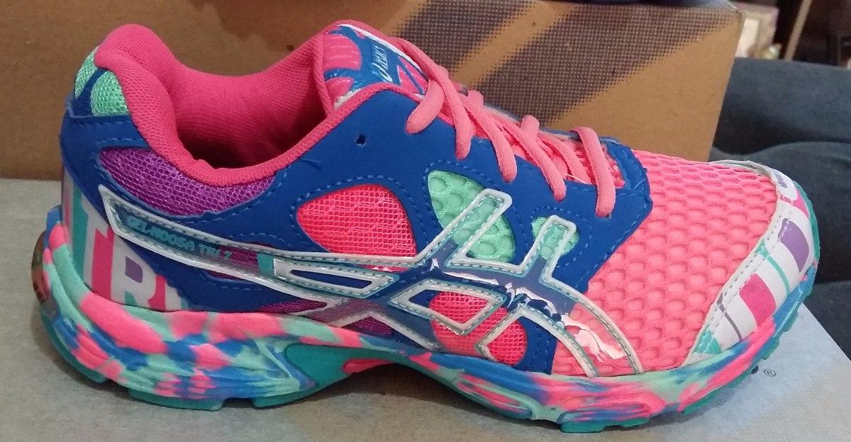 tenis asics gel noosa tri 7 feminino rosa