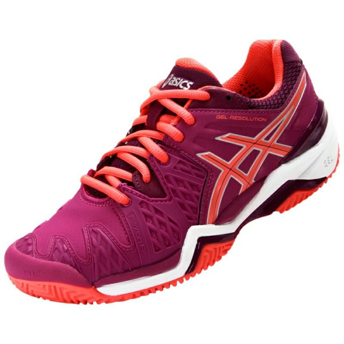 ce29141d37 tênis asics gel resolution 6 clay roxo e laranja feminino. Carregando zoom.