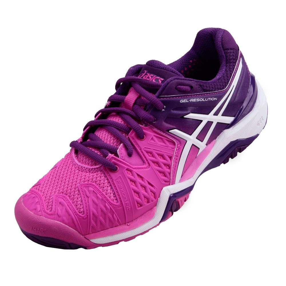 999120fbc4 tênis asics gel resolution 6 - hot pink  white  purple. Carregando zoom.