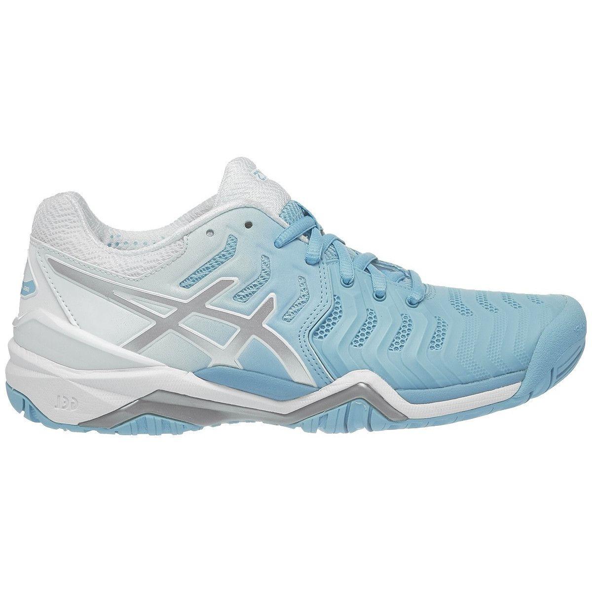 86819703a6d tênis asics gel resolution 7 azul claro prata e branco. Carregando zoom.
