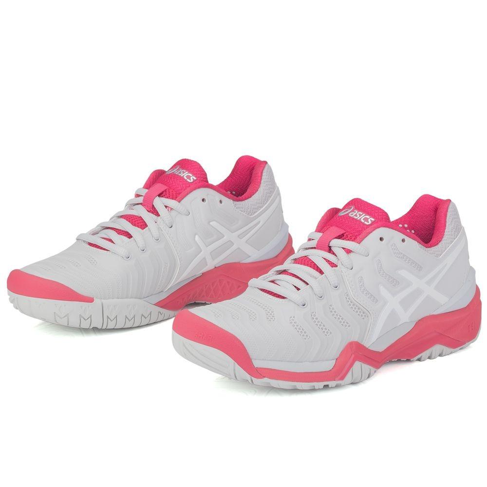 33a17da6ba0bf tênis asics gel resolution 7 cinza e rosa. Carregando zoom.