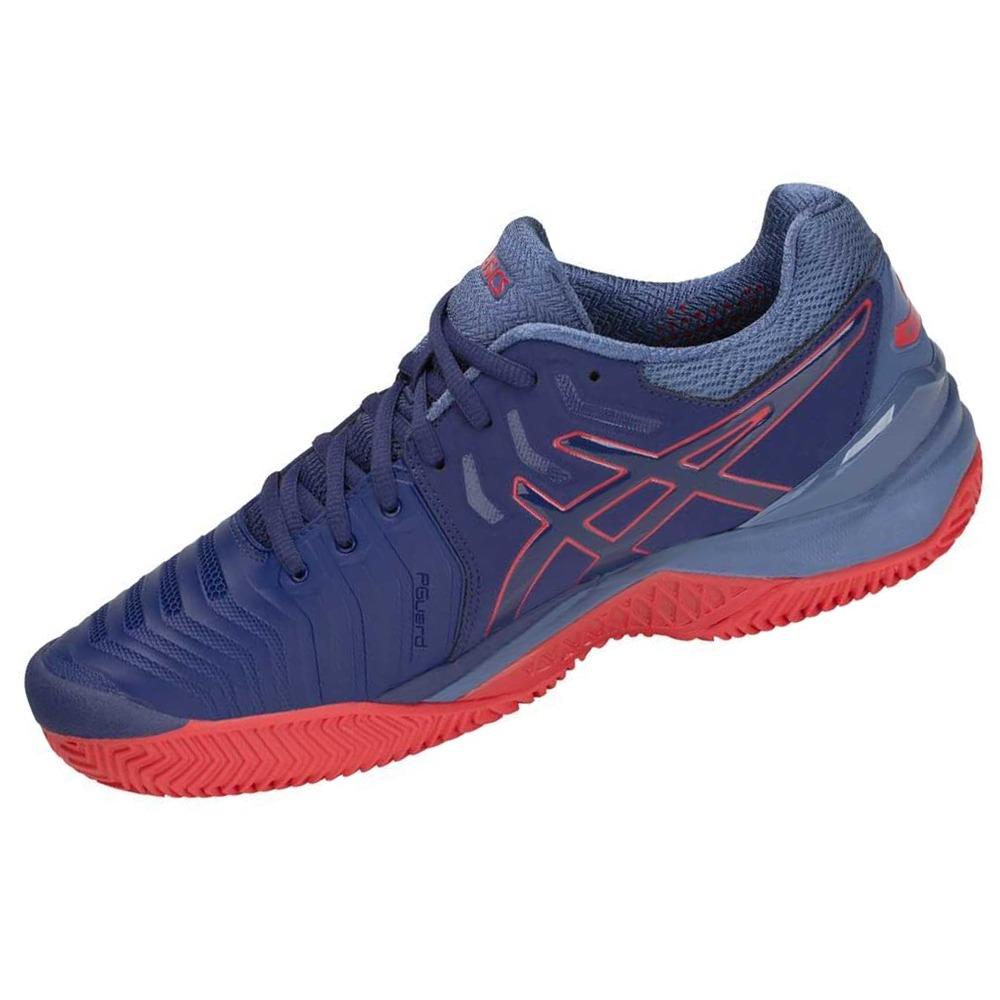 3b4edd3bae9 tênis asics gel resolution 7 clay - azul com vermelho. Carregando zoom.