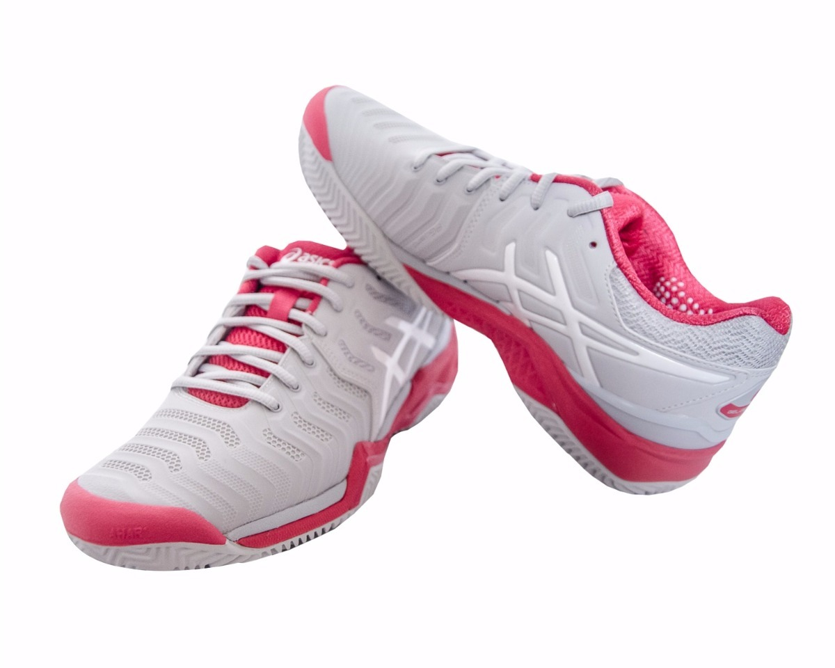 87b940d358 tênis asics gel resolution 7 clay feminino cinza e rosa. Carregando zoom.