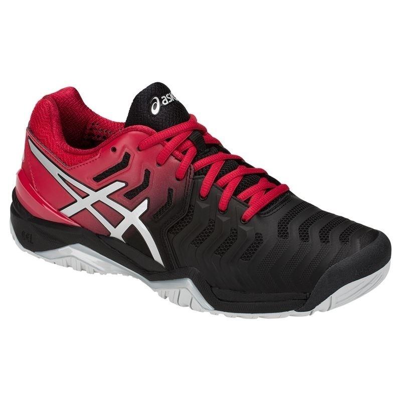tênis asics gel resolution 7 preto vermelho e prata. Carregando zoom. 8747109f91755