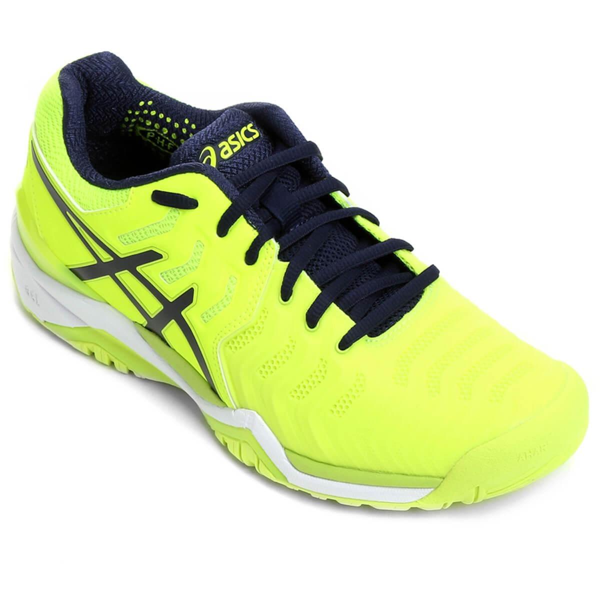 441a3c0c7 Tênis Asics Gel Resolution 7 Verde Limão E Marinho New - R$ 499,90 em  Mercado Livre