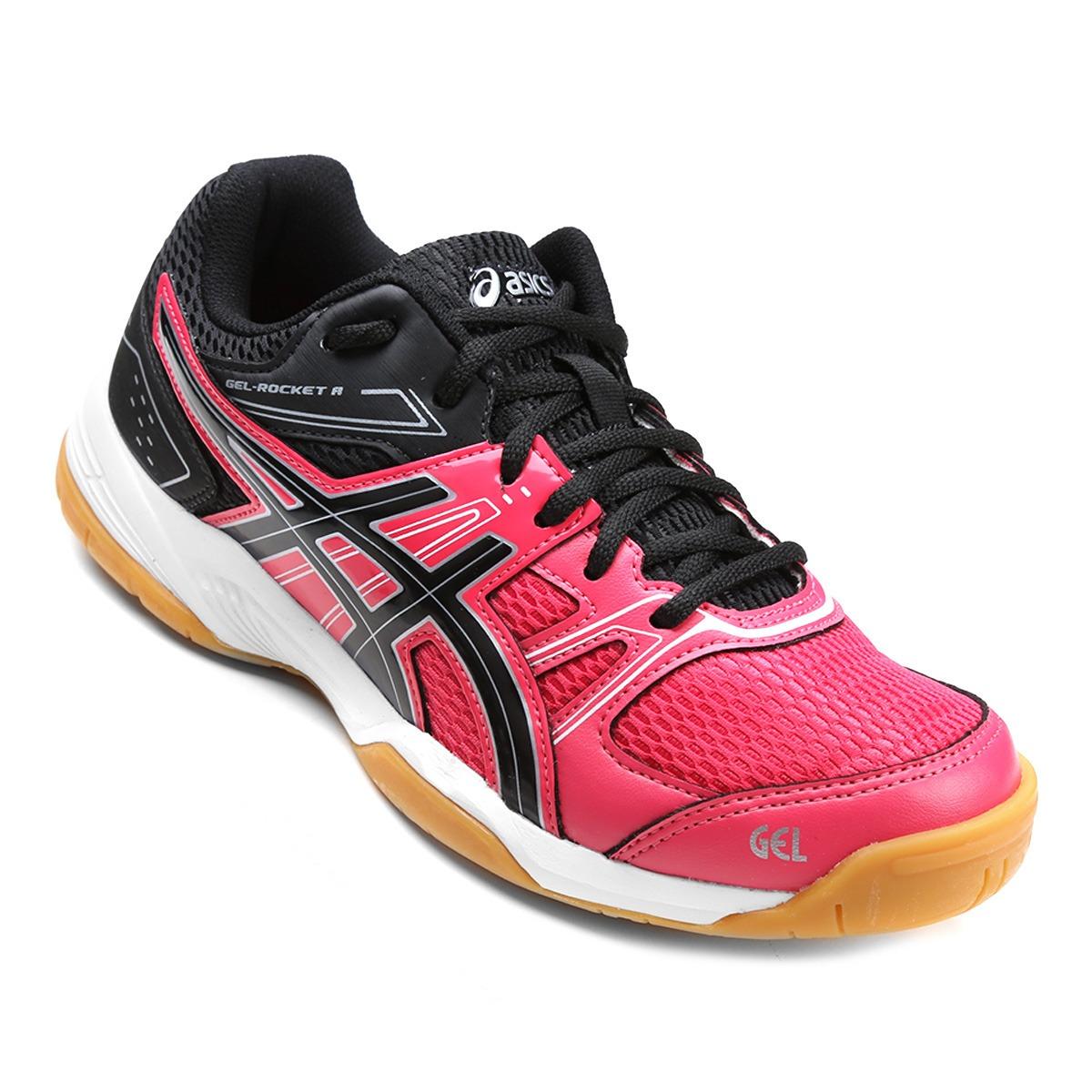 tênis asics gel rocket 7 a feminino vôlei - rosa e preto. Carregando zoom. 6947420a187dc