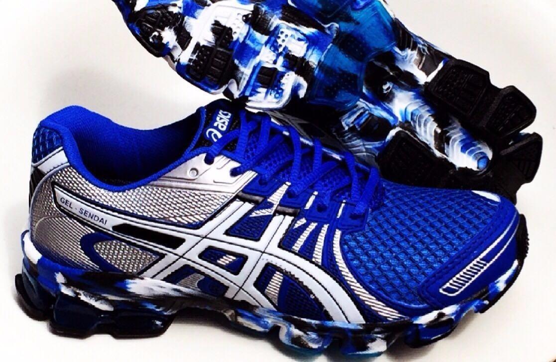142d81b3a1c Tênis Asics Gel Sendai Masc Azul E Cinza Primeira Linha - R  65